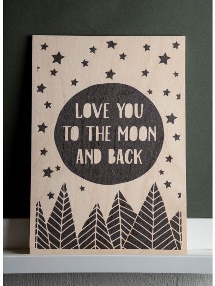 """Καδράκι """"Love You To The Moon And Back"""""""