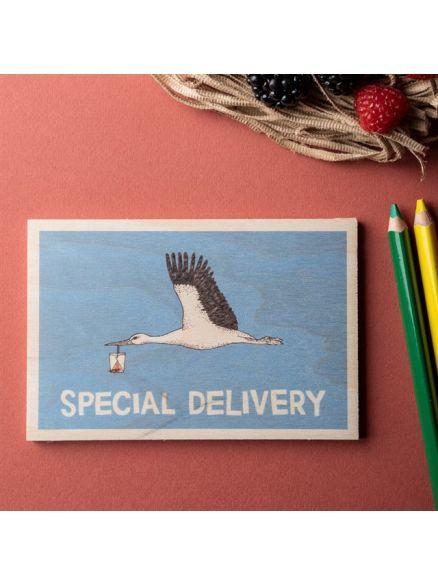 """Ξύλινη Κάρτα """"SPECIAL DELIVERY"""""""
