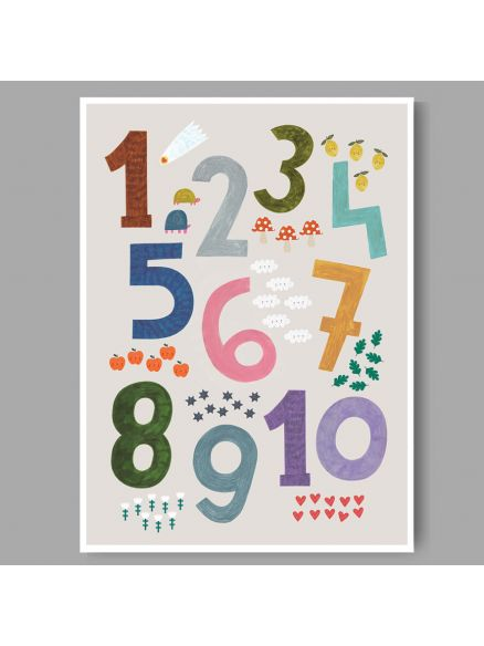 Numbers Print A3