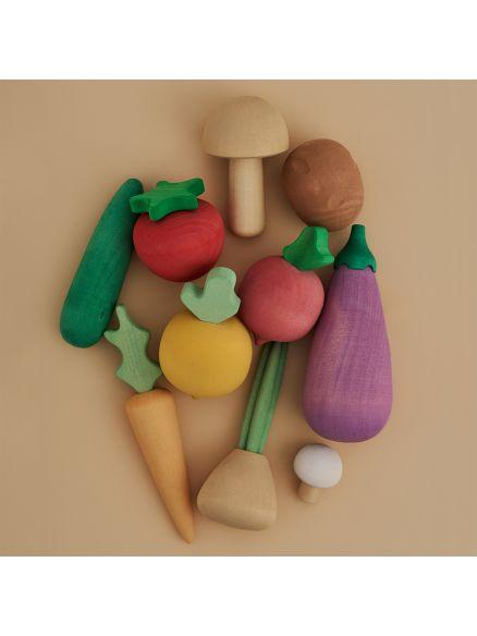 Ξύλινο Σετ Λαχανικά