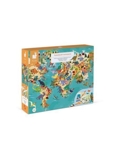 """Εκπαιδευτικό Puzzle με Χάρτινες Φιγούρες (200 ΤΕΜ)  """"Δεινόσαυροι"""""""