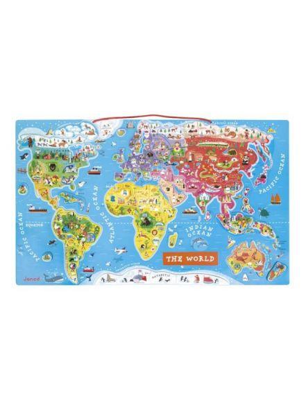 Μαγνητικός  Χάρτης Puzzle