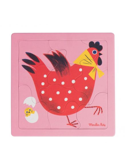 "Puzzle 10 κομμάτια ""chicken"""