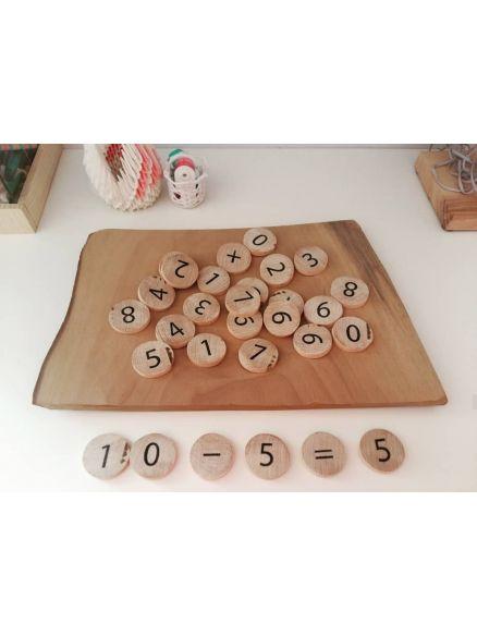 Ξύλινα Δισκάκια Αριθμοί