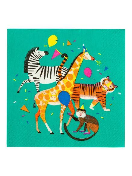 """Χαρτοπετσέτες  """"Party Animals"""""""