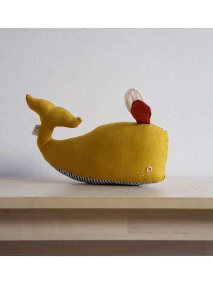 Υφασμάτινη Φάλαινα Κίτρινη