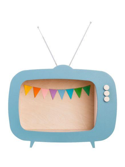 """Ραφάκι """"TV"""" Μπλε"""