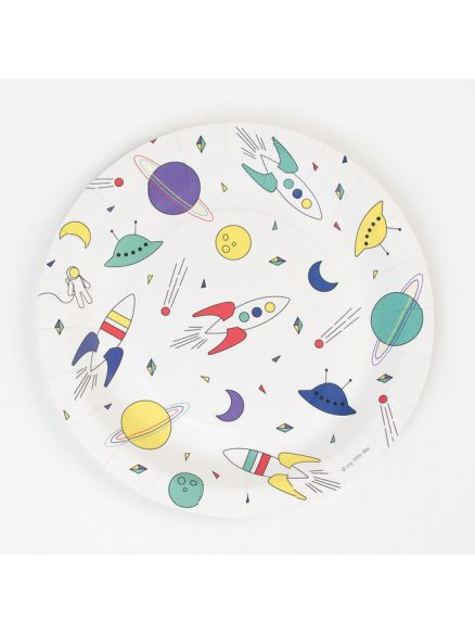 """Χάρτινα Πιάτα """"Space"""""""