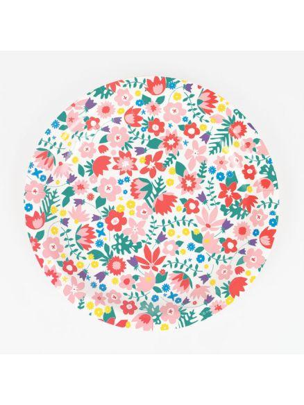 """Χάρτινα Πιάτα """"Flowers"""""""