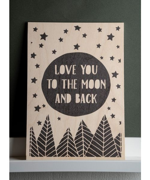"Καδράκι ""Love You To The Moon And Back"""