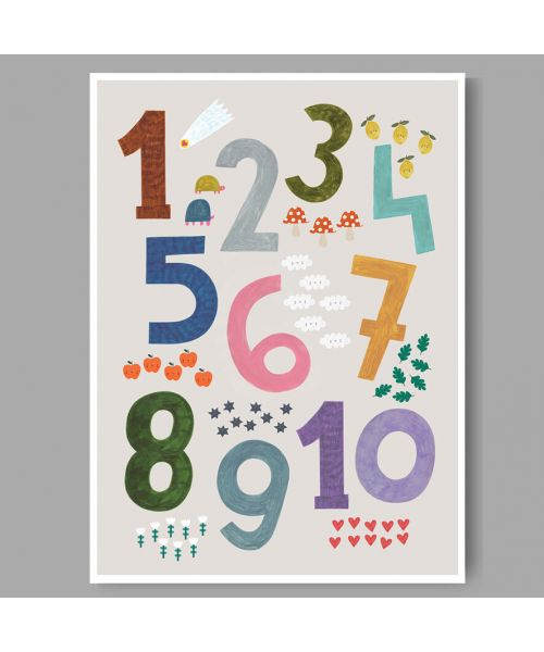 Numbers Print A3