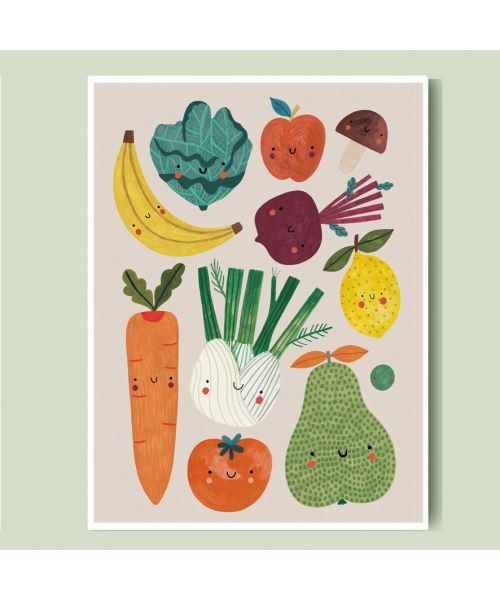 Fruits and Vegetables Print A3