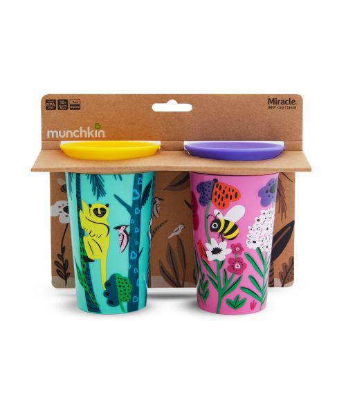 2PK MIRACLE SIPPY CUP 266ML - LEMUR/BEE